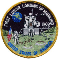 1st Lunar Landing embroidered Patch