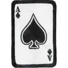 """Ace of Spades Patch 4.5cm x 7cm (1 3/4"""" x 2 3/4"""")"""