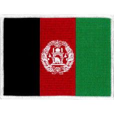 "Afghanistan Flag Patch 12cm X 9cm (4 3/4"" X 3-1/2"")"