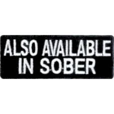 Also Available In Sober Patch 8cm x 3cm