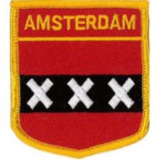 "Amsterdam Patch 7cm x 6cm (2 1/2"" X 2 3/4"")"