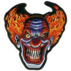 """Angry Clown Patch 11cm x 6cm  (4 1/2"""" X 2"""")"""