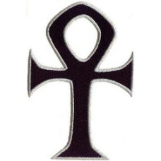 """Ankh Embroidered Patch 7cm x 4cm (2 3/4"""" X 2"""")"""