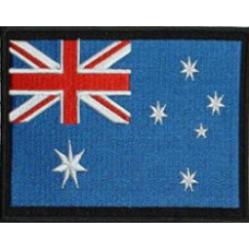 "Australia Flag Embroidered Patch 12cm x 8.5cm (5"" x 3-1/4"")"
