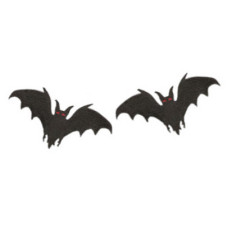 Bat Embroidered Patches (pack of 2) 7cm x 3.5cm