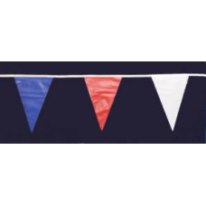 Red White & Blue Triangle Bunting 30 Flags 9 metres PVC
