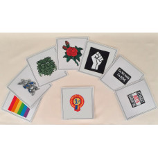 Greetings Card with Patch of your Choice (148mm x 148mm)