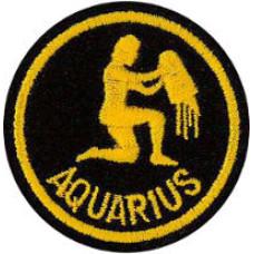 Zodiac - Aquarius Patch 5cm Dia