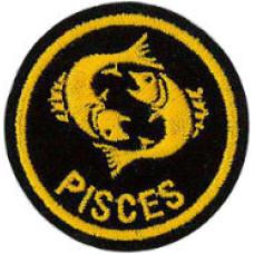 Zodiac - Pisces Patch 5cm Dia