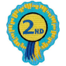 """2nd Rosette Embroidered Patch 8cm x 6cm (3"""" x 2"""")"""