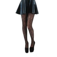 Womens - All Over Cobweb Lace Tights (Black)