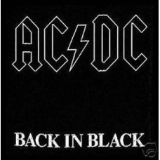 """AC/DC - Back in Black Official Patch 10cm x 10cm (4"""" X 4"""") approx"""