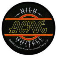 AC/DC - High Voltage Australia EST 1973 Patch 9cm Dia