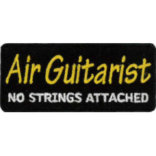 """Air Guitarist Embroidered Patch 8cm x 3.5cm (3"""" x 1 1/4"""")"""