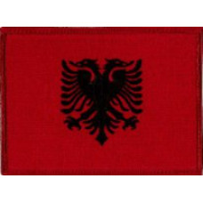 """Albania Embroidered Patch 12cm x 8.5cm (5"""" x 3-1/4"""")"""