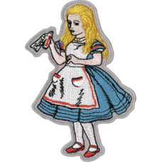 """Alice in Wonderland Embroidered Patch 9cm x 6cm (2 1/4"""" x 3 1/2"""")"""