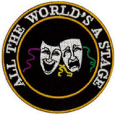 """All The World's a Stage Patch 7cm Dia (2 3/4"""")"""