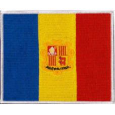 Andorra Flag Patch 12cm x 10cm