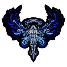 "Angel (Blue) Back Patch 26cm x 28cm (10"" x 11"")"