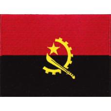 """Angola Flag Patch 12cm x 9cm (4 1/2"""" x 3 1/2"""")"""