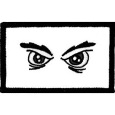 """Angry Eyes Patch 8cm x 5cm (3"""" X 2"""")"""