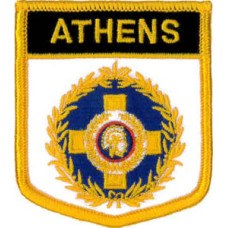 Athens (City of) Shield Embroidered Patch 7cm x 6cm