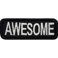 Awesome Embroidered Patch 7cm x 2.5cm