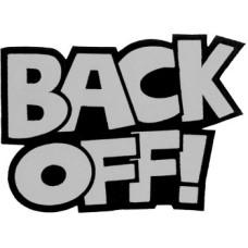 "Back Off (REFLECTIVE) 8"" Patch 20cm x 14cm (8"" x 5 3/4"")"