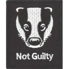 "Badger - Not Guilty Patch 6cm x 7.2cm (2 1/2"" X 2 3/4)"
