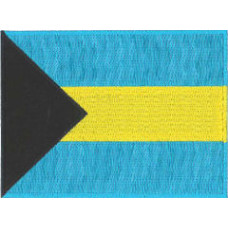 Bahamas Flag Embroidered Patch 12cm x 9cm