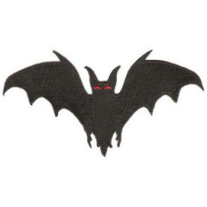Bat Embroidered Patch 12cm x 6cm