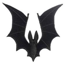 """Bat Wings Patch 8cm X 8.5cm (3 1/4"""" x 3 1/2"""") approx"""