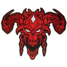 Devil (Red) Back Embroidered Patch 12 x 9 1/4 inch (30cm x 23.5cm)