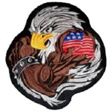 """Eagle Embroidered (round) Back Patch 20cm x 22.5cm (7 3/4"""" x 8 3/4"""")"""