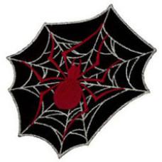 """Black Widow Spider Embroidered Patch 12cm X 10cm (5"""" X 3 1/2"""")"""