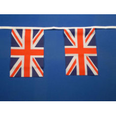 Union Jack Bunting 30 Cloth Fabric flags 9m  …