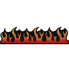 """Dancing Flame Embroidered Patch 20cm X 5cm  (8"""" X 2"""")"""