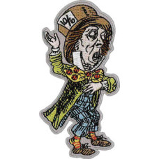 Mad Hatter Embroidered Patch 10cm x 5cm