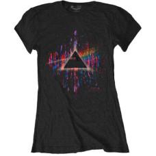 Pink Floyd - Dark Side of the Moon (Pink) Splatter Womens T Shirt
