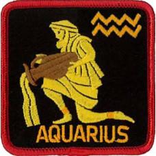 Zodiac - Aquarius Square Patch 7cm x 7cm