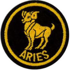 Zodiac - Aries Patch 5cm Dia