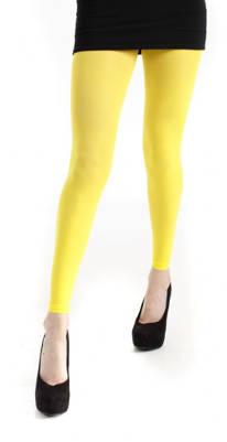 Womens - Footless Tights - 50 Denier - Yellow by Pamela mann