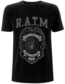 Rage Against The Machine - Grey Police Shield T Shirt​