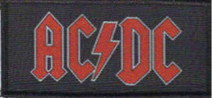 AC/DC Black/Red Logo Patch