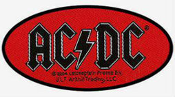 AC/DC Oval Woven Patch