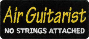 Air Guitarist Embroidered Patch