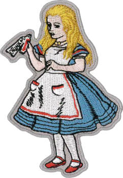Alice in Wonderland Embroidered Patch