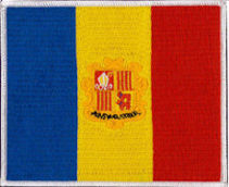 Andorra Flag Embroidered Patch