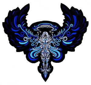 Angel (Blue) Embroidered Back Patch