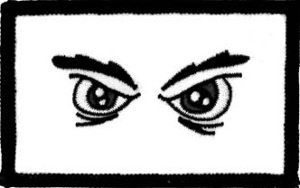 Angry Eyes Embroidered Patch